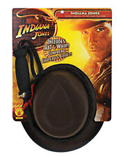 Indiana Jones Licensed Child Boys Dressup Hat & Whip Accessory Play Set