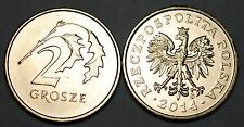 2014 Poland Old Style 2 Grosze Brass Coin BU Very Nice KM# 277