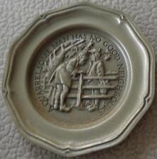 Quarrelsome Man Has... - Franklin MInt Miniature Collectible Plate - VGC BRONZE