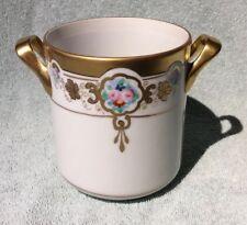 Antique Art Nouveau Condensed Milk Jar - Noritake Nippon hand painted by Pickard