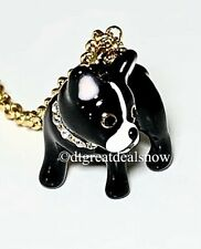 NWT Kate Spade Ma Cherie Antoine French Bulldog Gold Plate Pendant Necklace $58