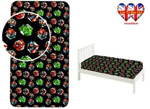 Fitted Sheet Marvel Avengers Single Bed%100 Cotton,Official Licensed(200x90x25cm