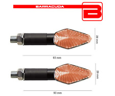 BARRACUDA FRECCE LAMPADA MINIVIPER NERE LUNGHE per MOTO GUZZI Custom 125