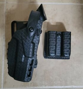 Safariland Glock 7380 Glock 17/22 ALS QLS Level III Duty Holster With Mag Pouch