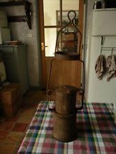ancienne lampe probablement de mineur ou militaire de tranchees