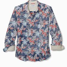 Tommy Bahama Faded Palms Hawaiian Size M Long Sleeve Linen Shirt