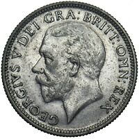 1927 SHILLING - GEORGE V BRITISH SILVER COIN - NICE