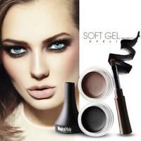 Black Makeup Eye Liner Cream Eyeliner Eye Waterproof Shadow Gel Brush Cosmetics