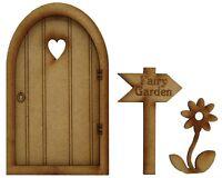 Wooden Fairy Door Fairy Garden Door Fairy Garden Sign Flower Heart Fairy Door