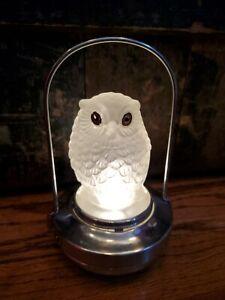 1930s Vintage Halloween Lantern Glass Owl Lamp WORKS PIFCo Japan Night Light