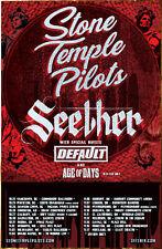 STONE TEMPLE PILOTS   SEETHER Tour 2018 Ltd Ed RARE Poster +FREE Rock Poster STP