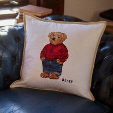 Polo Ralph Lauren Polo Bear Throw Pillow Cream 18 x 18 inch Bedding