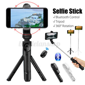 Extendable bluetooth Selfie Stick Tripod Stand Remote Shutter For iPhone