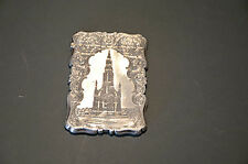 RARE ANTIQUE SOLID STERLING SILVER VISITING CARD CASE NATHANIEL MILLS BIRM. 1849