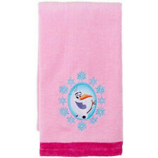 Disney Frozen Olaf Cotton Finger Towel Pink Embroidered