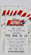 Disney FASTPASS Walt Disney World Fast Pass Ticket MK ATTRACTION RE-ENTRY PASS