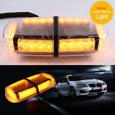12V Amber LED 24W Car Van Roof Lightbar Flashing Beacon Strobe Light Magnetic Y5
