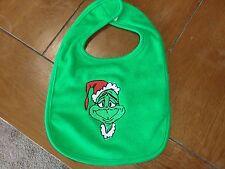 Embroidered Baby Bib - The Grinch - Green Bib