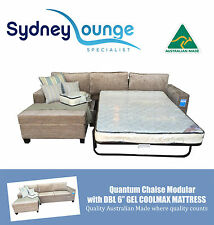 Brand New - AUS MADE Quantum Chaise Modular with 6'' Double Gel Sofa Bed Lounge