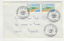 France 2 timbres sur lettre FDC 1983 tampon Marseille /L753