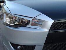 Unpainted Headlight Eyebrows Eyelids for 08-14 Mitsubishi Lancer Evo 10 EX GTS