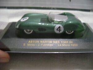 ASTON MARTIN DBR 1/300 //4S,MOSS -J,FAIRMAN  LE MANS 1959  IXO REF 733