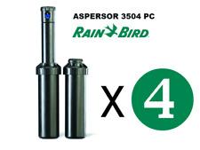 ASPERSOR DE RIEGO RAIN BIRD 3504 PC ALCANCE DE 4,6 A 10,7 mts Pack 4 unidades