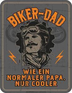 Panneau Métallique 17 x 22, Biker Dad, Panneau Publicitaire Rahmenlos Art. 3805