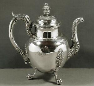 John W. Forbes Silver Teapot    c1810 MUSEUM