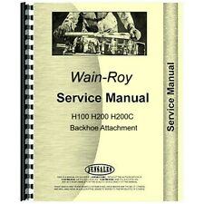 Wain Roy H100 H200 H200c Backhoe Service Repair Manual Attachment