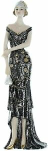 Widdop Stunning Art Deco Figurine ''Broadway Belles'' Lady Standing Black Dress