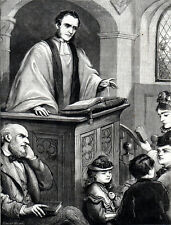 CURATE WHO BECAME RECTOR 1872 Edward Hughes VICTORIAN ENGRAVING