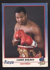 1991 KAYO LARRY HOLMES HEAVYWEIGHT CHAMPION SIGNED  BOXING CARD NICE
