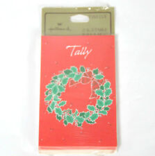 Hallmark Christmas Wreath Themed Progressive Bridge Tallies 12 Count