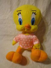 "9"" Looney Tunes Tweety Bird Heart PJs Plush Soft Toy Stuffed Animal"