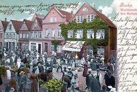Schöne Ansichtskarte Itzehoe, Wochenmarkt auf dem Marktplatz