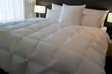 QUEEN SIZE QUILT BAFFLE BOXED 95% WHITE SIBERIAN DUCK DOWN 6 BLANKET WARMTH