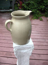 STONEWARE SALT GLAZE LARGE PITCHER GRAHAM NY EXCELLENT