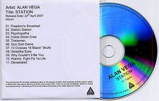 ALAN VEGA Station 2007 UK 11-track promo test CD Suicide