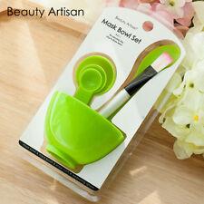 4 in1 DIY Facial Face Mask Mixing Bowl Brush Beauty Makeup Spoon Stick Set Tools