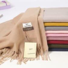 Cashmere Blend Plain Scarf wrap Soft Pashmina Wool Shawl Many colors Ladies UK