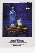 2010 magazine ad ABSOLUT VODKA Berri Acai advertisement print art clipping