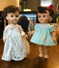 "Vtg 2 EEGEE Lil Susan Or Shelly Walking Jointed Doll 10"" Vintage Dresses"