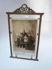 Antique 1880's Mercury Gilding Bronze Bevelled Frame Photos Picture Art Deco
