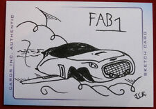 THUNDERBIRDS ARE GO! - SCARCE INK SKETCH - FAB 1 - by James Ramsey - CARDS INC