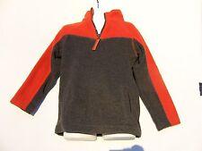 Arizona Jean Company Boys Orange & Gray ¼ Zip Long Sleeve Fleece Top Size Mediu