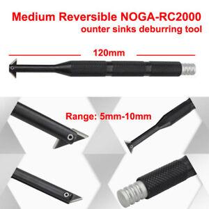 1Pc NOGA RC2000 MEDIUM REVERSIBLEcountersinks deburring Handle Tool New