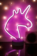 NEON PINK UNICORN LIGHT SIGN WALL DECOR CARNIVAL FLUORESCENT TUBE LAMP HOME