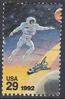 USA Briefmarke gestempelt 29c Austronaut Spaceshuttle Space 1992 / 2060
