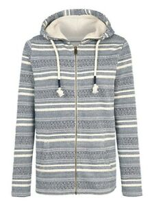 Fat Face Cotton Hoodie Ladies Size 16 Eskdale Pattern - rrp £55 -New With Tags
